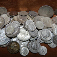 90% SILVER - $2 FACE USA COINS LOT - HALF DOLLARS QUARTERS DIMES OUT OF CIRC MIX