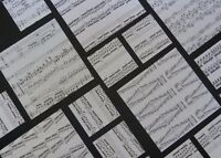 40 sheets ORIGAMI paper , genuine random music sheets MIXED PACK -VINTAGE-