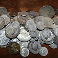 90% SILVER - 2 OUNCE USA COINS LOT - HALF DOLLARS QUARTERS DIMES OUT OF CIRC MIX