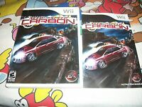 Need For Speed Carbon Nintendo Wii Case & Manual ONLY NO GAME