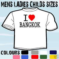 I LOVE HEART BANGKOK THAILAND T-SHIRT ALL SIZES