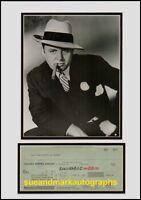 Rod Steiger Scarface Al Capone Autograph  Cheque UACC