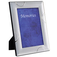 """SECONDS Metal Silver Plated Photo Frame Picture Frames New - Semi Circle 5 x 7"""""""