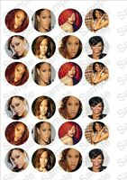 24 x Rihanna Fairy cake toppers on rice paper!