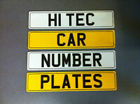 Set of Car Number Plates with Fitting Kit - Standard Pair Free Postage
