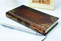 Vintage classic notebook blank diary journal Single line Retro note book Narrow