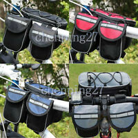 cycling bike bicycle Multifunction Frame Front Tube Bag Pannier Handlebar Bag