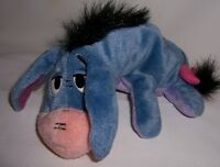 Winnie the Pooh's Donkey Eeyore on Tummy Plush Tail Curled Around to his Foot