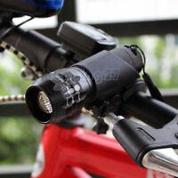Cycling Bike Bicycle Front Light / CREE Q5 Flashlight 240 Lumens / Torch Clip