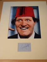 Signed & Mounted Tommy Cooper Card & photo display - C.O.A.