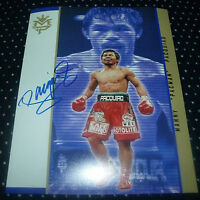"""MANNY PACQUIAO 8X10 PHOTO AUTO SIGNED """"PACMAN"""" WITH C.O.A. EXCL.1"""