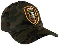 Vietnam Laos Cambodia Vet Veteran  MACV SOG MACVSOG Camo Camouflage Hat Ball Cap