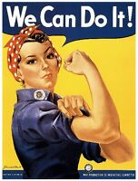 1942 We Can Do It WWII American Patriotic Wartime Advertisement Poster Print