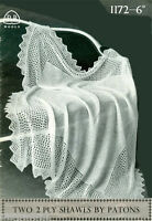 Vintage baby  2ply shawl  Knitting pattern-  measures 50 inches when complete