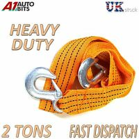 2 TONNE 2T 3.6M Tow Towing Pull Rope Strap Heavy Duty Road Recovery Car Van 4x4