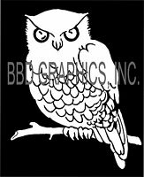 Wise Owl White or Black Vinyl Car Window Sticker Decal Car Bumper Computer