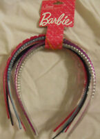6-Piece Barbie Girl Headbands New Hair Accessories Pink Black Purple Sparkle