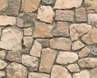 6924-12) 6 Rollen hochwertige Präge Tapeten Bruchstein Dekor creme grau ANGEBOT