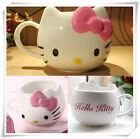 Hello Kitty Ceramic Cup Tea Milk Coffee Mug White Pink Bowknot