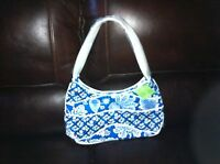 Vera Bradley Making Waves Hobo in Blue Lagoon shoulder bag purse NWT Fast ship