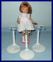 """3 NEW White KAISER Doll Stands for Effanbee 9"""" PATSYETTE 8"""" Shirley Temple"""