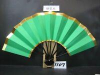JAPANESE Sensu Fan With the wind Folding GREEN NEW