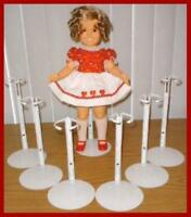 """6 Kaiser Doll Stands for 15"""" 16"""" 18"""" Shirley Temple"""