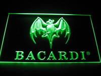 Bacardi Logo Beer Bar Pub Store Light Sign Neon B028