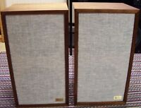 ACOUSTIC RESEARCH AR-2ax PAIR OF NEW GRILLES, CLOTH & LOGOS