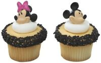 12 PARTY TOPPER CAKE CUPCAKE RINGS FAVORS MINNIE MICKEY MOUSE BIRTHDAY PARTY