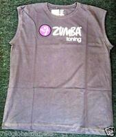 Zumba Fitness Unisex Gray Toning Instructor Crew neck Tank Top-NWT-Ships fast!!!