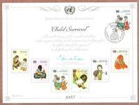 United Nations Scott #Geneva 28, First Day Cover Card 11/22/85