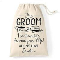 Gift bag for The Groom on Wedding day morning. Husband to be gift Personalised.