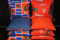 FLORIDA GATORS CORNHOLE BEAN BAGS/BAGGO/TOSS Quality Handmade Corn Hole Bags!