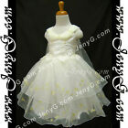 #SP7 Christening Pageant Ball Gowns Dresses Ivory 0 3 6 9 12 18 24 Months 2 3 4T