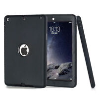 "Shockproof Heavy Duty Rubber Hard Case Cover for 9.7"" Apple iPad Air, Black"