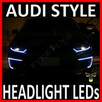 "WHITE 24"" LED SIDE SHINE HEAD LIGHT STRIP DRL HEADLIGHT STRIPS Xenon HID #B6"