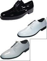 NEW Genoa Boys Tuxedo Dress Shoes Black, White, Ivory 8 - 6, Width Medium (M, D)
