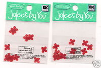 Jolees by you Embellishment Red impatiens flowers  Scrapbooking Crafts __F2
