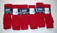 Team Gear Football Socks Red Size Large (Dozen)