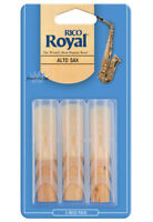 Rico Royal Alto Saxophone Reeds, Strength 2.5, 3-pack