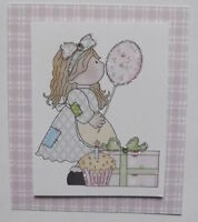 PK 3 PATCHWORK GIRLS BIRTHDAY EMBELLISHMENT TOPPERS FOR CARDS