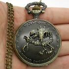 Horrible Skeleton Quartz Pocket Watch Necklace Pendant Xmas Men's Gift