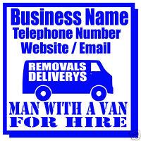 MAN WITH A VAN BUSINESS MAGNETIC SIGN CAR / VAN 1 PAIR
