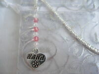 nana heart tibetan silver handmade bead bookmark gift wedding favour