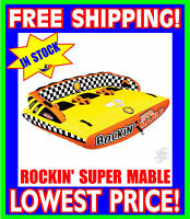 SPORTSSTUFF SUPER ROCKIN MABLE Tube Towable 3 Rider NEW FAST SHIPPING 53-2263