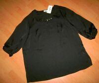 Edle MY LINE Tunika SHIRT T-Shirt * schwarz * 44 L * NEU