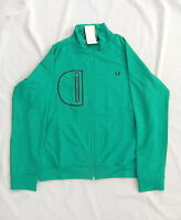 NEW FRED PERRY J2226 CAPSULE SPORTSWEAR MENS GREEN TRACK JACKET