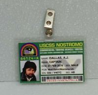 Aliens ID Badge-USCSS Nostromo Captain Dallas prop costume cosplay