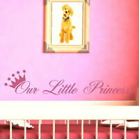 LITTLE PRINCESS Nursery wall sticker huge removable vinyl uk transfer nin37